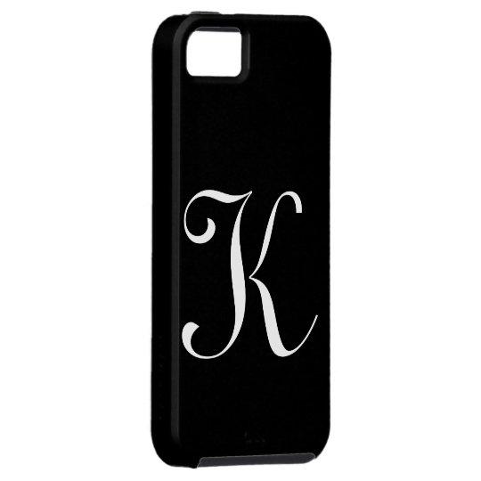 K Monogram Black IPhone 5 Case