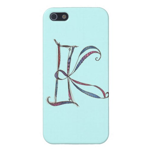 K monogram cover for iPhone 5
