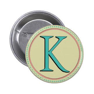 K MONOGRAM LETTER PIN