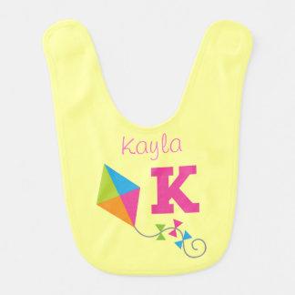 K Name Baby Girl Kite Infant Bib