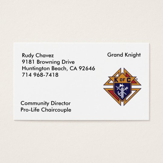 K of C Business Card