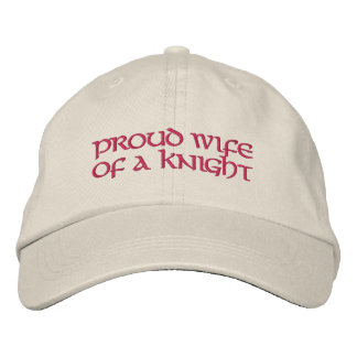 """K of C """"Proud Wife of a Knight"""" Baseball Hat Embroidered Baseball Caps"""