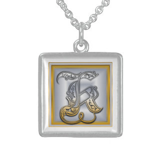 K Royal Initial Monogram Necklace Jewelry