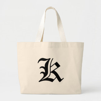 K-text Old English Large Tote Bag
