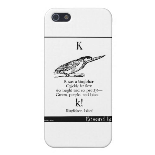 K was a kingfisher iPhone 5 case