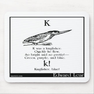 K was a kingfisher mousepads