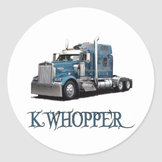 K Whopper Round Sticker