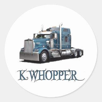 K Whopper Round Stickers
