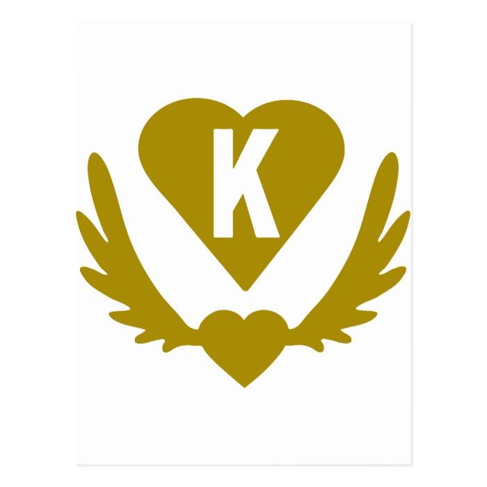 K-Winged-Heart-Heart.png Postcard