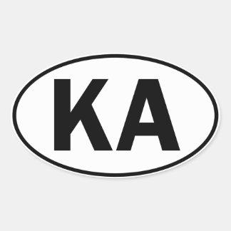 KA Oval Identity Sign Sticker