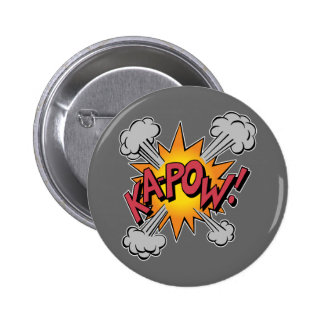 Ka Pow! Cartoon 6 Cm Round Badge