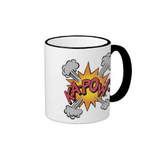 Ka Pow! Cartoon Ringer Mug