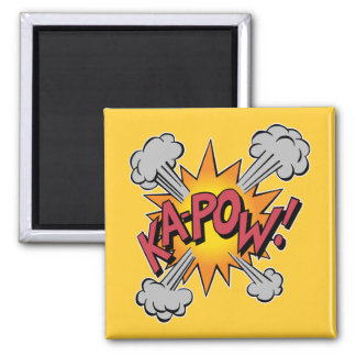 KA-POW! Comic Book Graphic Square Magnet