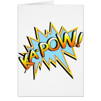 Ka-Pow Greeting Card