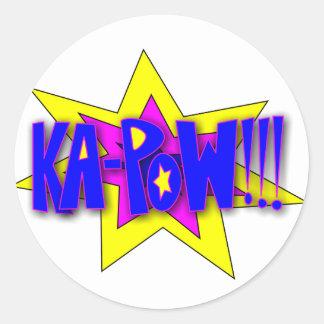 KA-PoW Round Sticker