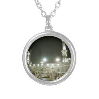 Kaaba Kaba Mecca Mecca Islam Allah Muslim Muslim Round Pendant Necklace