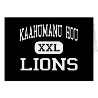 Kaahumanu Hou - Lions - High - Kahului Hawaii Greeting Cards