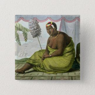 Ka'ahumanu, Queen of the Sandwich Islands 15 Cm Square Badge