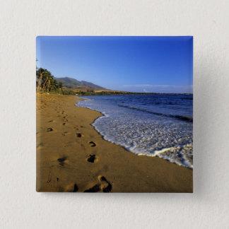 Kaanapali beach, Maui, Hawaii, USA 15 Cm Square Badge
