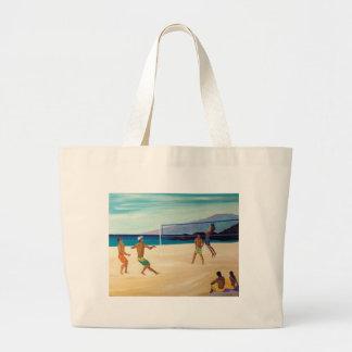 Kaanapali Beach Volleyball Large Tote Bag