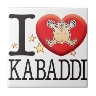 Kabaddi Love Man Small Square Tile