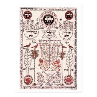 Kabbalah Design Postcard