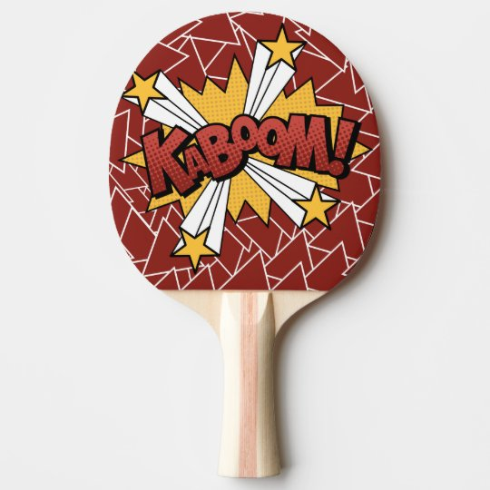 Kaboom Comic Book Style Ping Pong Paddle