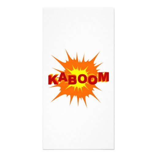 Kaboom Graphic Photo Card Template
