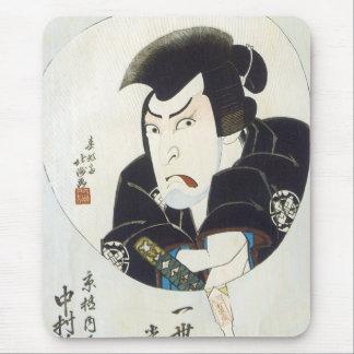 Kabuki Actor Nakamura Utaemon III, Hokushu, 1825 Mouse Pad