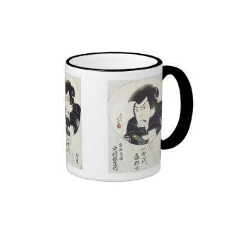 Kabuki Actor Nakamura Utaemon III, Hokushu, 182... Ringer Coffee Mug