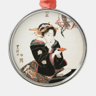 Kabuki Actor Reflected in a Sake Cup Christmas Ornament