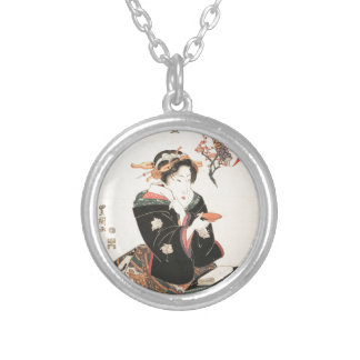 Kabuki Actor Reflected in a Sake Cup Custom Necklace