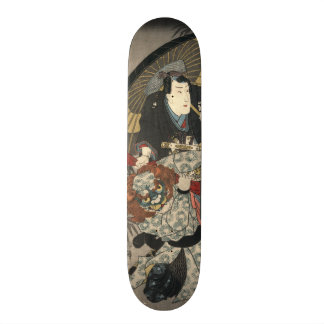 Kabuki Actors Triptych 1847 Left Skate Board Decks