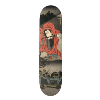 Kabuki Actors Triptych 1847 Middle 18.1 Cm Old School Skateboard Deck