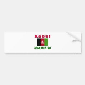 Kabul Afghanistan capital designs Bumper Sticker