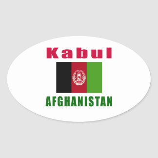 Kabul Afghanistan capital designs Oval Sticker