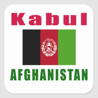 Kabul Afghanistan capital designs Square Sticker