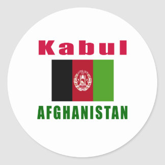 Kabul Afghanistan capital designs Classic Round Sticker