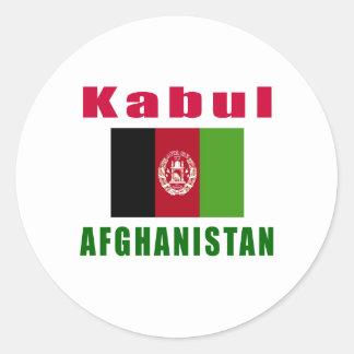 Kabul Afghanistan capital designs Round Sticker