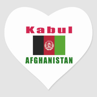 Kabul Afghanistan capital designs Heart Stickers