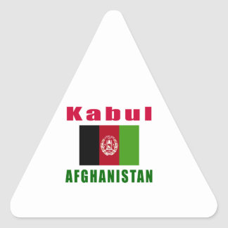 Kabul Afghanistan capital designs Triangle Sticker