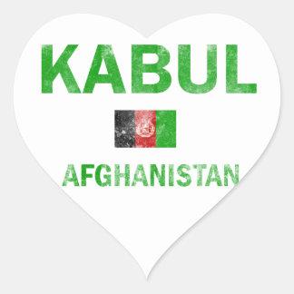 Kabul Afghanistan Designs Heart Sticker