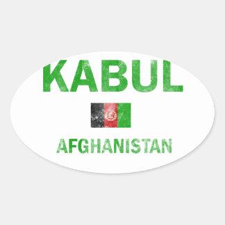 Kabul Afghanistan Designs Oval Sticker