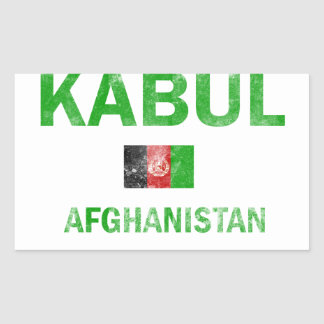 Kabul Afghanistan Designs Rectangular Sticker