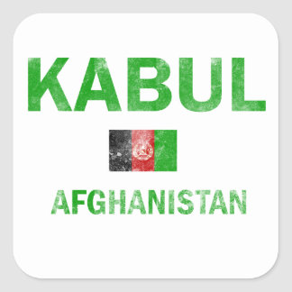 Kabul Afghanistan designs Square Sticker