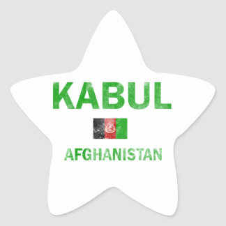 Kabul Afghanistan designs Star Sticker
