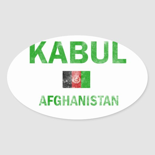 Kabul Afghanistan Designs Oval Stickers