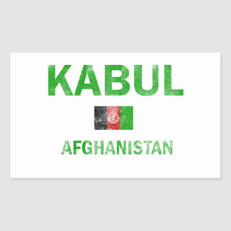 Kabul Afghanistan designs Rectangular Stickers