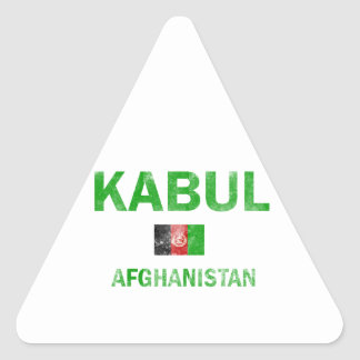 Kabul Afghanistan designs Triangle Sticker