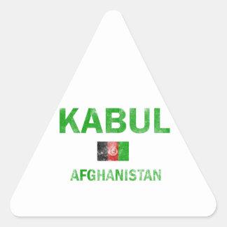 Kabul Afghanistan designs Triangle Sticker